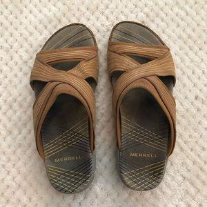 Womens Merrell Sandals Heather Ginger Size 6